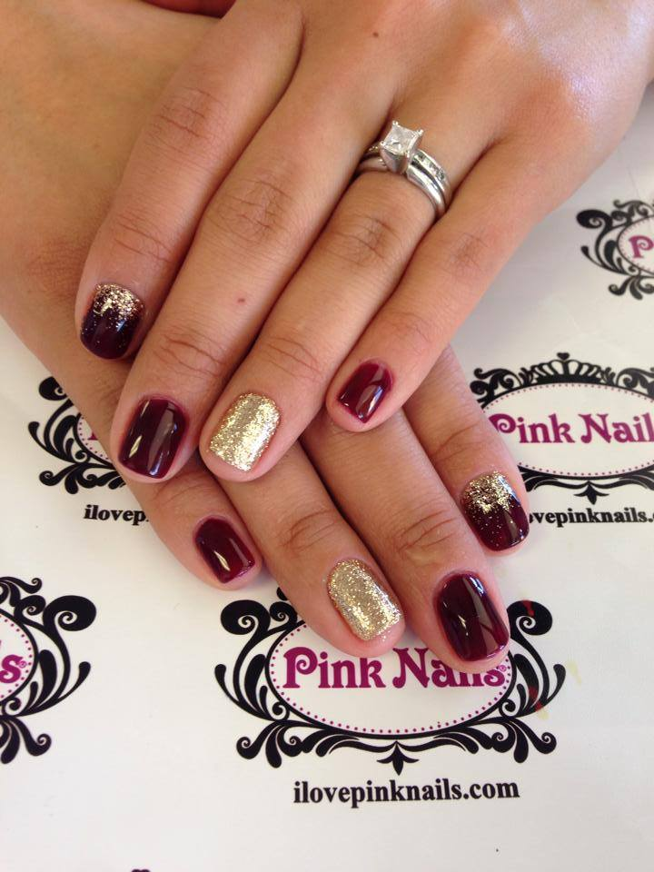 burgundy and gold nail designs Quotes